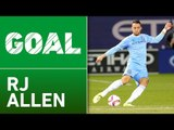 GOAL: RJ Allen scores his first career MLS goal, 1-0 NYCFC!