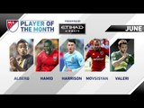 Vote now for Etihad Airways Player of the Month for June!