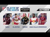 Etihad Airways Player of the Month Nominees: October