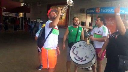 Les supporters de l'EN créent en ambiance formidable à Franceville, Gabon