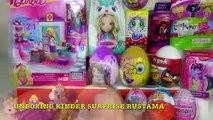 20 Киндер Сюрпризов,Unboxing Kinder Surprise Barbie,My Little Pony,Disney Princess,Monster High