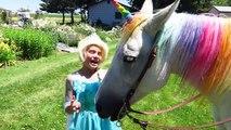 ❤️ Spider-man & Frozen Elsa vs MAGIC RAINBOW HORSE w/ Joker Mermaid Superhero Movie Funny Comic