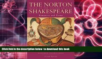 PDF [FREE] DOWNLOAD  The Norton Shakespeare: Based on the Oxford Edition: Romances and Poems