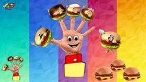 The Finger Family Burger - Family Nursery Rhyme - Burger Finger Family Songs - Family Finger Burger