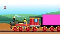 Shapes for Kids Kindergarten Toddlers Preschoolers. Shape Train. Choo-Choo Train with Shapes 2D