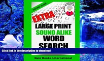 READ book Extra Large Print  Sound Alike Word Search Mike Edwards Pre Order