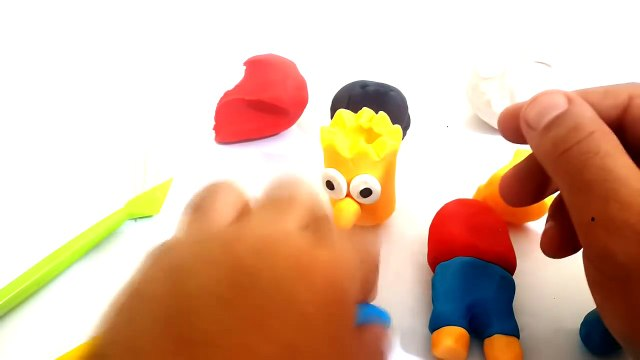 Simpsons Bart - Play Doh Simpsons Bart - How to Make Bart Simpson