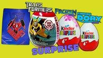 Surprise Eggs Unboxing !! Transformers Egg, Kinder Surprise !! Disney Pixar Find