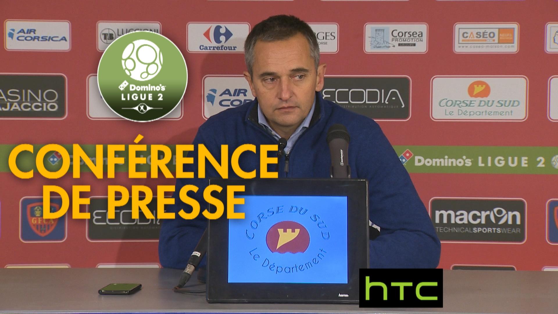 Conférence de presse Gazélec FC Ajaccio – AJ Auxerre (2-0) : Jean-Luc VANNUCHI (GFCA) – Cédric DAURY (AJA) – 2016/2017