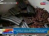 NTG: Mga baril at bala, nabawi mula sa bahay ng isang umanong farm caretaker sa Tarlac