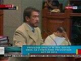 BP: Privilege speech ni Sen. Tito Sotto ukol sa Anti-Cybercrime Law