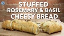 Stuffed rosemary and garlic cheesy bread