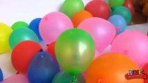 Balloon toys in a box | balloon toys boom boom videos | putting toys into balloo