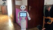 Le robot Pepper s'est présenté