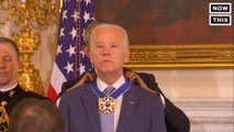 Tears flow as Obama gives Biden the Presidential Medal of Freedom