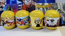 Dragon Ball Super Z Surprise Eggs Unboxing cards figures Son Goku Piccolo Freeza Bulma Pan Gohan SSJ