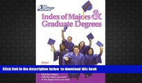 BEST PDF  The College Board Index of Majors   Graduate Degrees 2004: All-New Twenty-sixth Edition