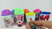 Surprise Cups Surprise Eggs Minnie Spiderman Frozen Elsa Minions Hello Kitty Paw