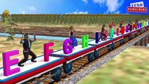 Thomas and Friends Train Song | ABC song For Kids | Superheroes learning ABC Alphabets Rhymes 3D