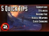 5 Quick Tips - Camo, Stillness, Holding Fire, Vehicle Weapons, Class Changing (PlanetSide 2)