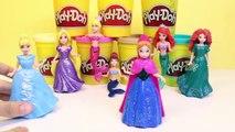 Play Doh Disney Princess Ariel Frozen Princess Anna The Little Mermaid MagiClip Dolls