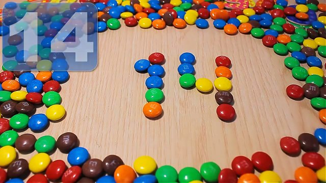 Make NUMBERS 10 to 20 for Kids with M&M's Candy. Learn to count NUMBERS 12345. Counting for children
