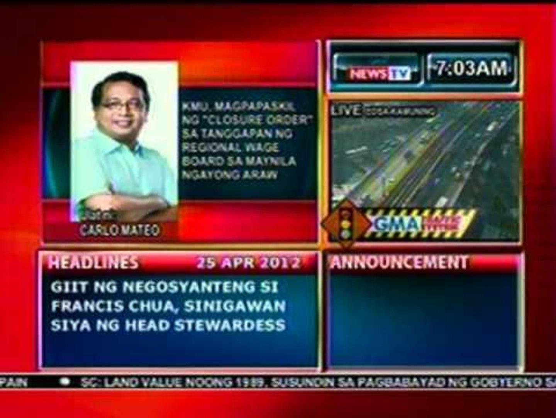 DB: KMU, magpapaskil ng 'Closure Order' sa tanggapan ng regional wage board sa Maynila nga