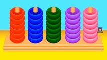 Learn Colours with Color Rings Game - Learn Colors for Toddlers - Fun Educational Videos