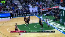 Giannis Throws Down Double Clutch Dunk  01.13.17