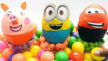 Learn Colors for Children Giant Play doh Surprise Eggs Toys Ball Pit Educational show learning video
