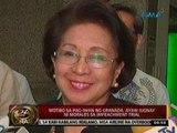 Ombudsman Carpio-Morales, 'di natitinag sa kabila ng natagpuang granada malapit sa bahay