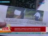 UB: Granada, iniwan sa harap ng bahay ni Ombudsman Conchita Carpio-Morales