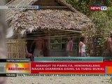 BT: Mahigit 70 pamilya sa Catanduanes, naka-diarrhea dahil sa tubig sa bukal