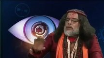 Swami Om throws glass of water onto host