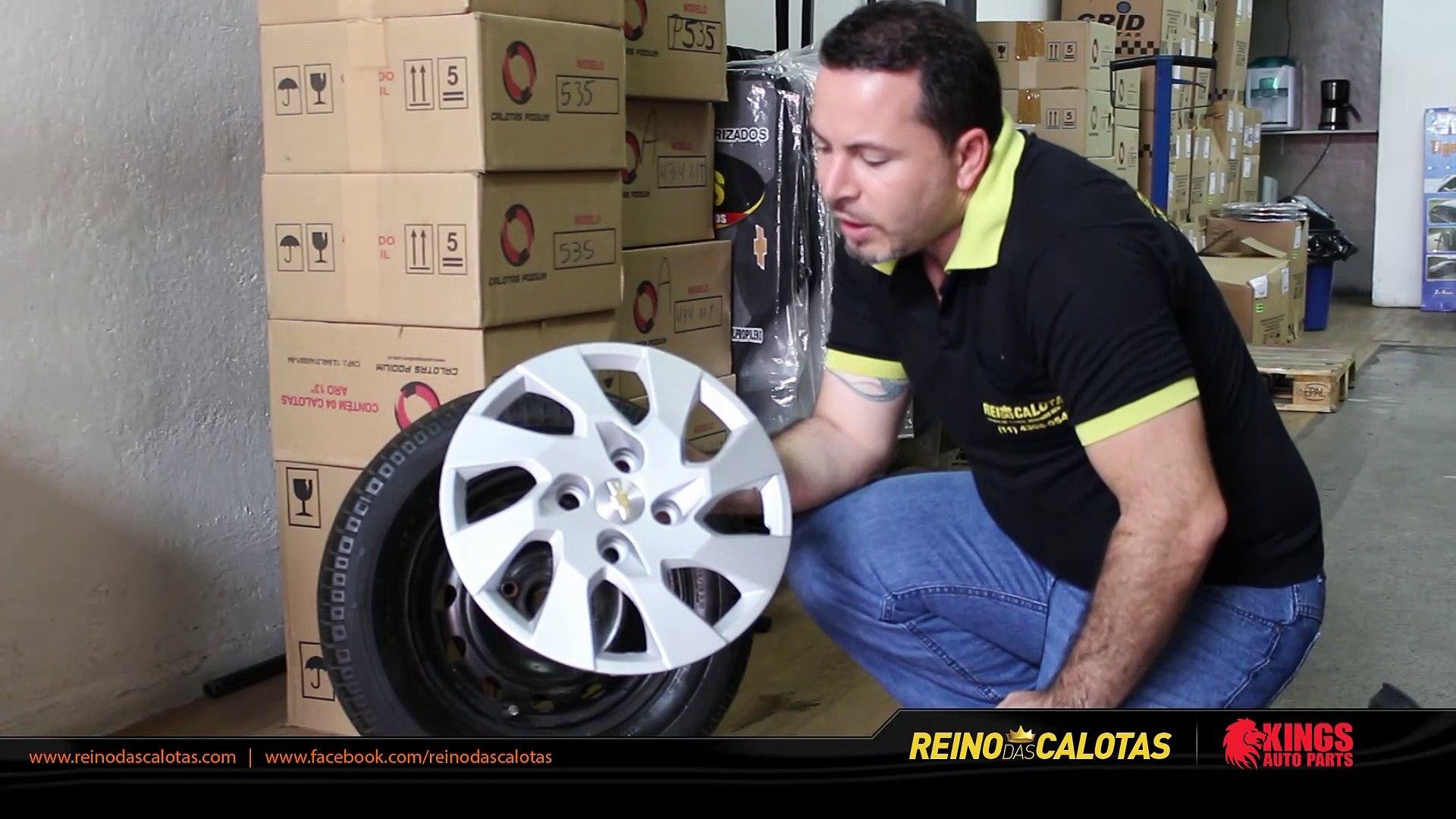Instalando Calotas Aro 14 em roda aro 13