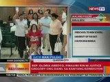 BT:  Rep. G. Arroyo, naka-wheelchair at naka-suwerong dumalo sa pre-trial hearing ng graft cases