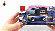 Lego City POLICE PATROL CAR. Brick Enlighten 126 Police Truck. Stop Motion Build Review