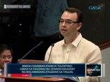 Saksi: Francis Tolentino, ginisa sa pagdinig ng Senado