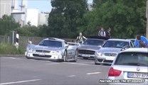 Mercedes CLK GTR AMG CLK DTM together on the Road in Stuttgart