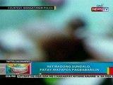 BP: Retiradong sundalo, patay sa pamamaril; babae, patay sa pananaksak