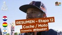 Resumen de la Etapa 12 - Coche/Moto - (Río Cuarto / Buenos Aires) - Dakar 2017