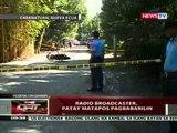 QRT: Radio broadcaster; patay matapos pagbabarilin