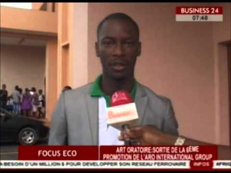 Business 24 / Focus Eco -  Art oratoire :  sortie de la 6e promotion de l'ARO International group