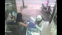 Girl Ran Away With Boyfriend After Stealing Smartphone From Shop