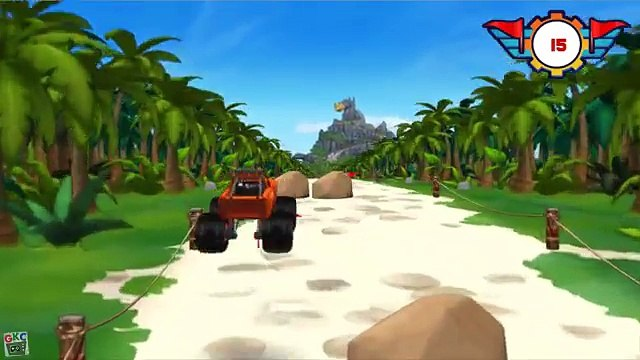 Blaze And The Monster Machines: Blaze Dragon Island Duel - Blaze Dragon Island Race!