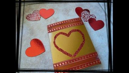 Une idée pour fabriquer une jolie carte d'amour Saint Valentin