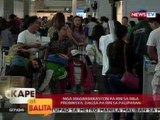 KB: Mga magbabaksyon pa rin sa mga probinsya, dagsa pa rin sa paliparan