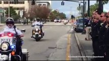 Orlando police salute funeral processional for master sgt Clayton