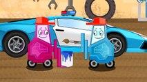 Autos für Kinder der Lastwagen und der Kran Kinderfilm deutsch Cartoon für Kinder