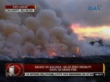 24 Oras: Bahagi ng kalsada, halos zero visibility dahil sa grass fire